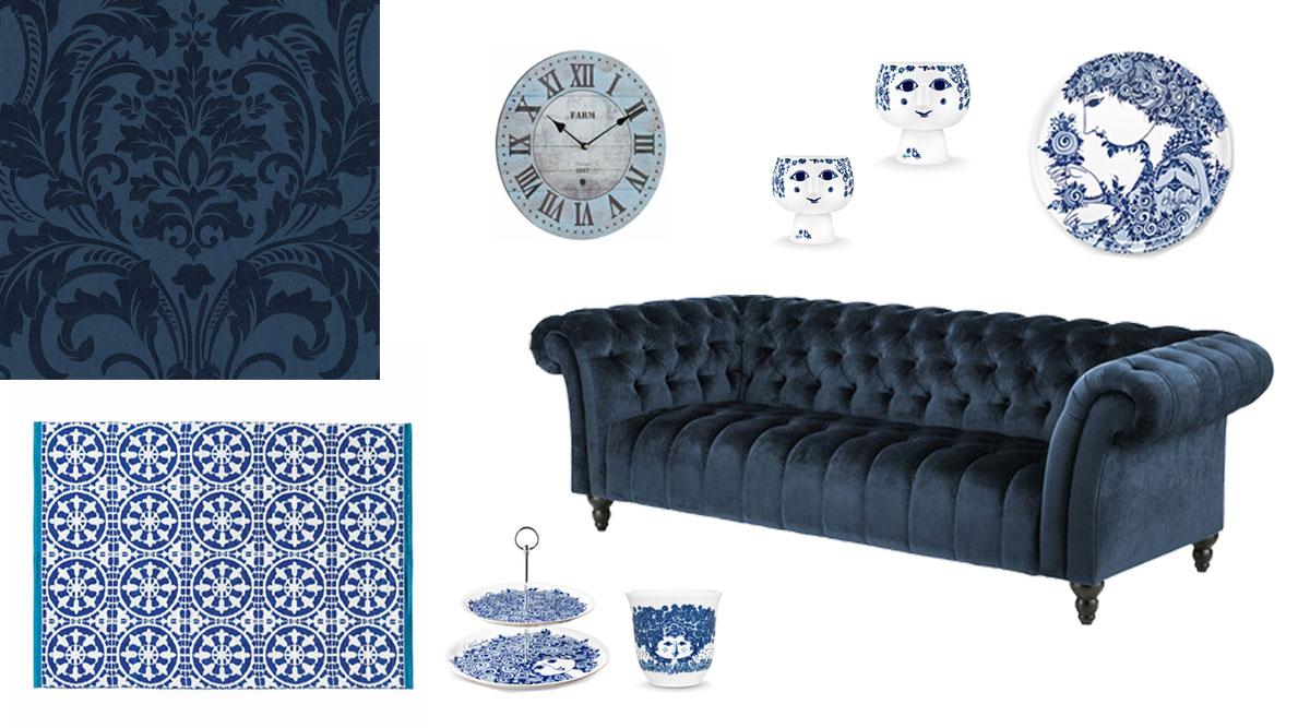 farbe blau bei der raumgestaltung als wandfarbe richtig. Black Bedroom Furniture Sets. Home Design Ideas